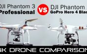 DJI Phantom 3 Professional vs Phantom 2 with GoPro Hero 4 Black – 4K Drone Comparison