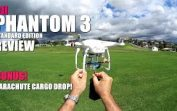 DJI PHANTOM 3 STANDARD Review – Flight Test – Bonus Parachute Cargo Drop