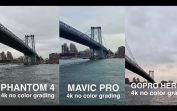 DJi MAVIC vs. PHANTOM 4 vs. GOPRO KARMA side by side comparison in 4k