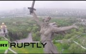 Russia: See iconic Battle of Stalingrad memorial statue via drone's-eye-view